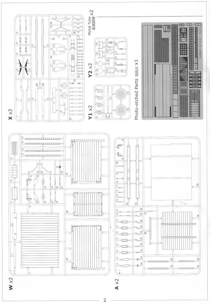 Anleitung02-1 Gedeckter Güterwagen G10 (6in1) - Red Cross 1:35 Sabre Model (35A01-RCSP)