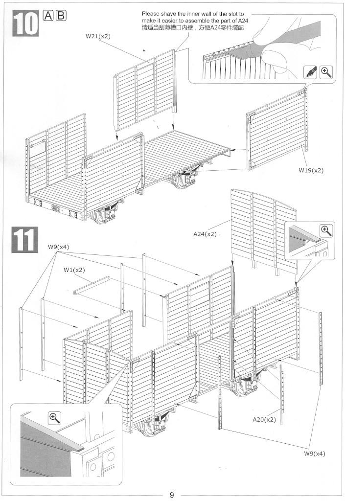 Anleitung09-1 Gedeckter Güterwagen G10 (6in1) - Red Cross 1:35 Sabre Model (35A01-RCSP)