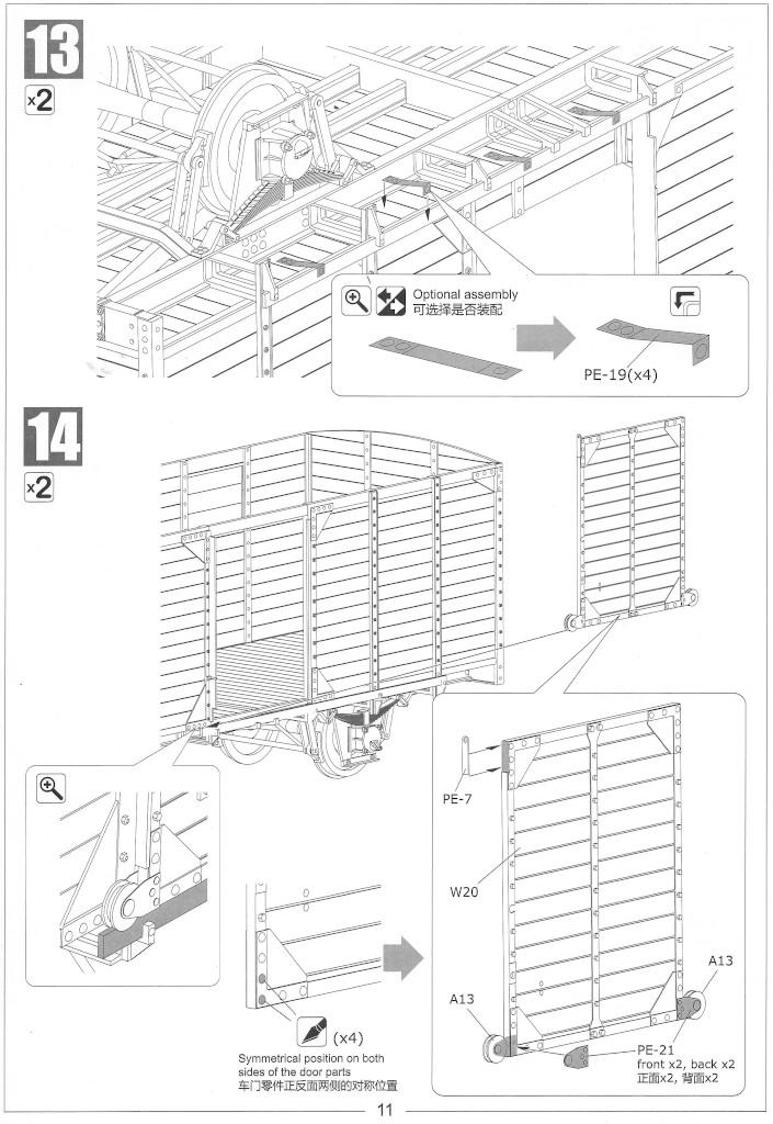 Anleitung11-1 Gedeckter Güterwagen G10 (6in1) - Red Cross 1:35 Sabre Model (35A01-RCSP)