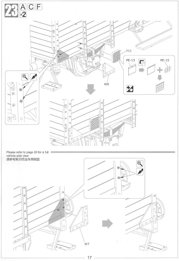 Anleitung17-1 Gedeckter Güterwagen G10 (6in1) - Red Cross 1:35 Sabre Model (35A01-RCSP)