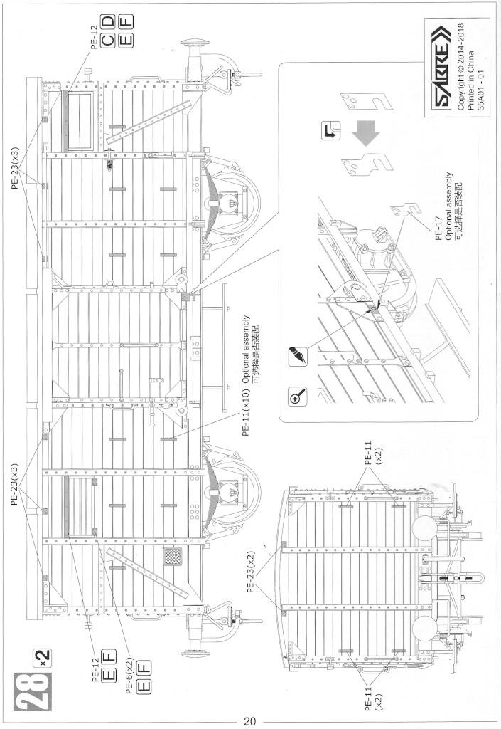 Anleitung20-1 Gedeckter Güterwagen G10 (6in1) - Red Cross 1:35 Sabre Model (35A01-RCSP)