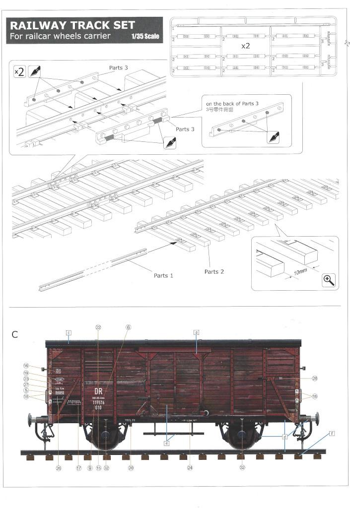 Anleitung21-1 Gedeckter Güterwagen G10 (6in1) - Red Cross 1:35 Sabre Model (35A01-RCSP)