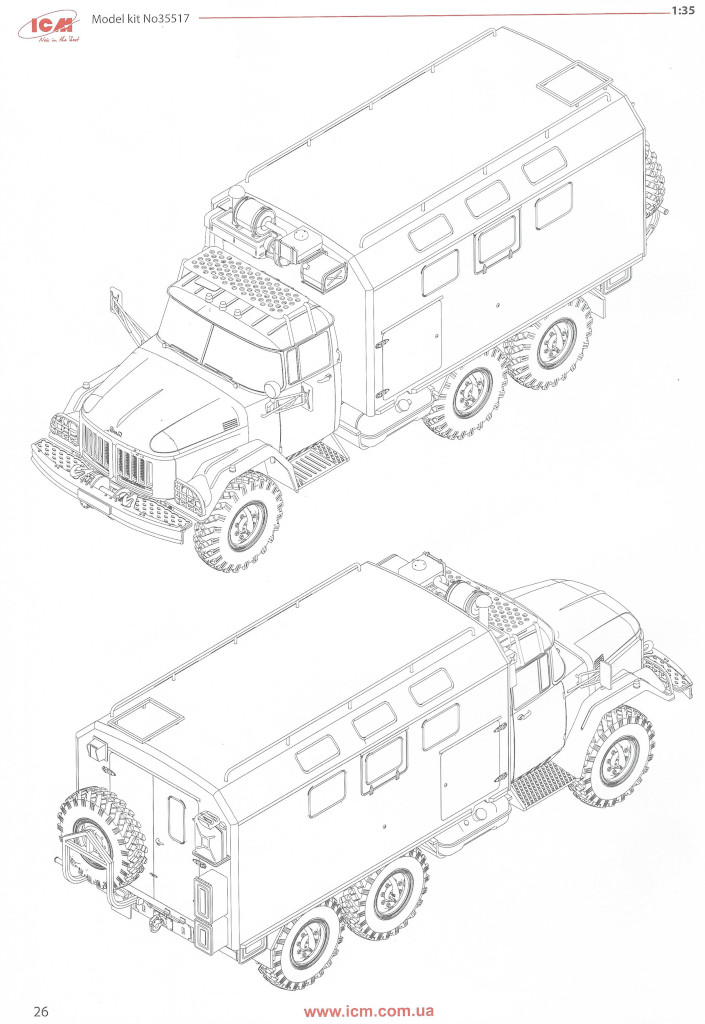 Anleitung26 ZiL-131 KShM with Soviet Drivers 1:35 ICM (35524)