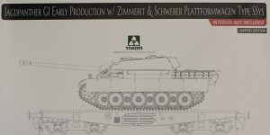 Jagdpanther G1 Early Production w/Zimmerit & Schwerer Plattformwagen Type SSys 1:35 Takom (2125X)