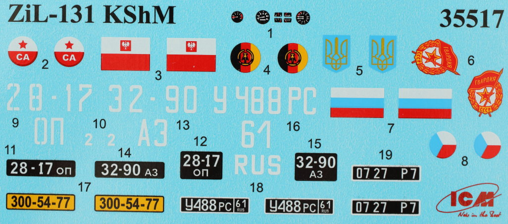 Decals ZiL-131 KShM with Soviet Drivers 1:35 ICM (35524)