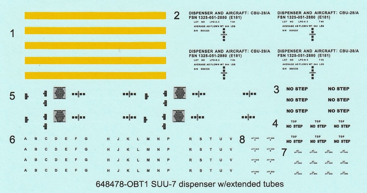 Eduard-648477-und-648478-SUU-7-Dispenser-18 SUU-7 Dispenser in 1.48 Eduard 648477 und 648478