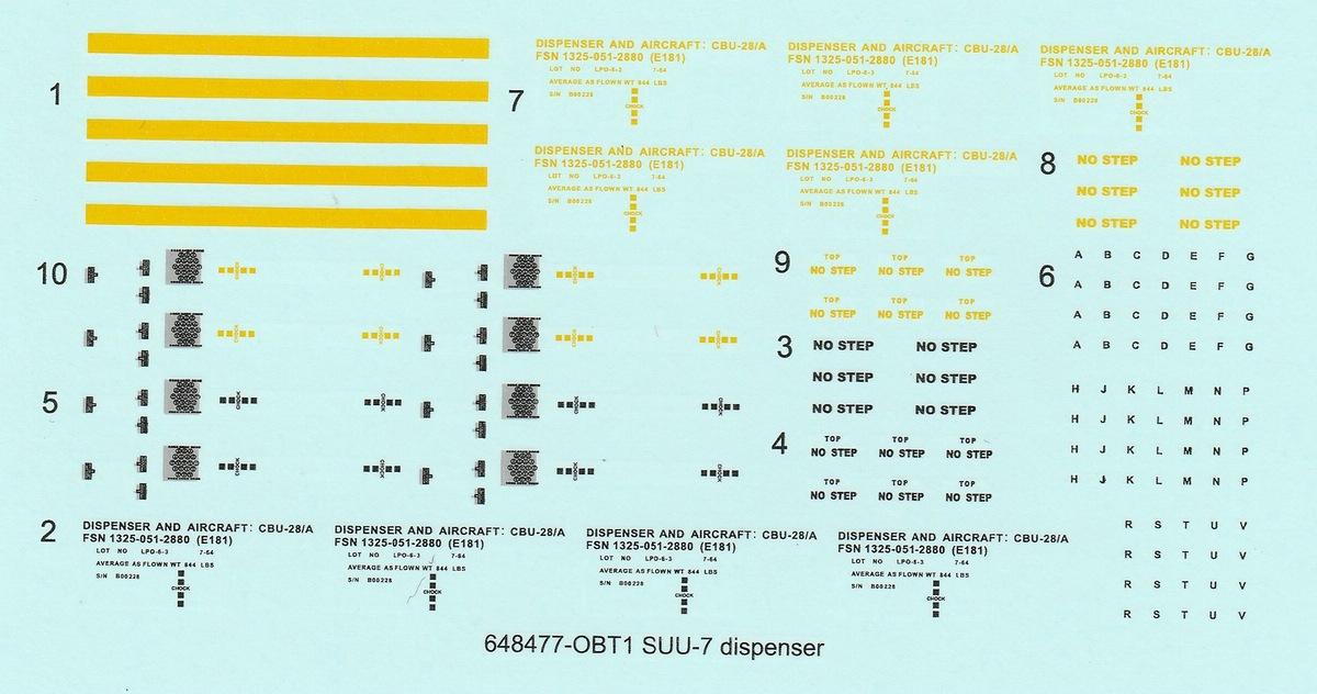Eduard-648477-und-648478-SUU-7-Dispenser-9 SUU-7 Dispenser in 1.48 Eduard 648477 und 648478