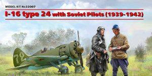 Polikarpov I-16 + Soviet pilots in 1:32 von ICM #32007