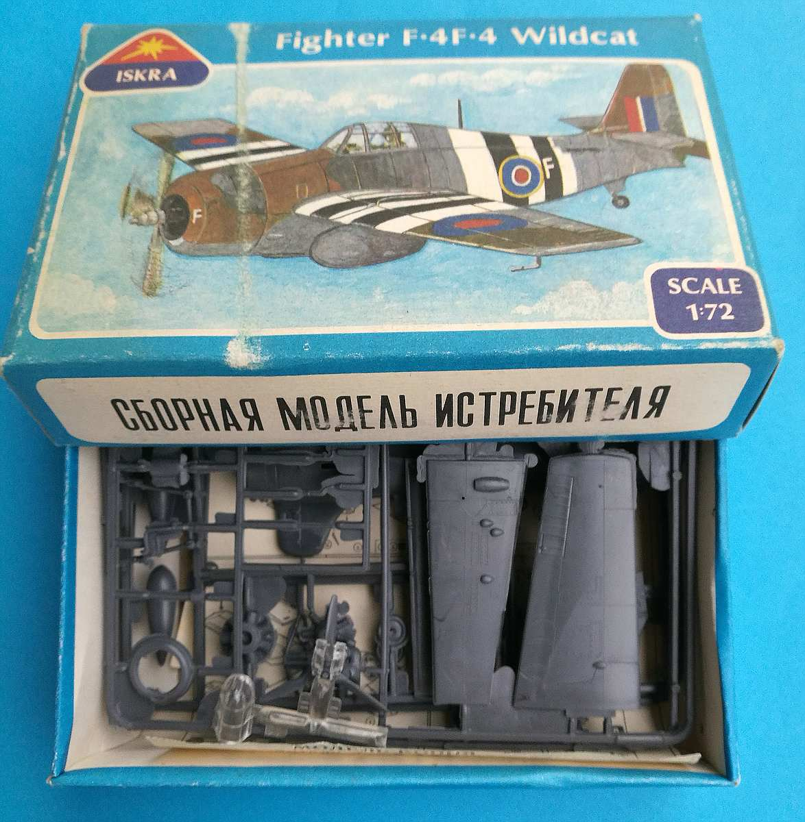 ISKRA-FROG-Wildcat-6 Kit-Archäologie: F4F-4 Wildcat in 1:72 von ISKRA (FROG F.432)