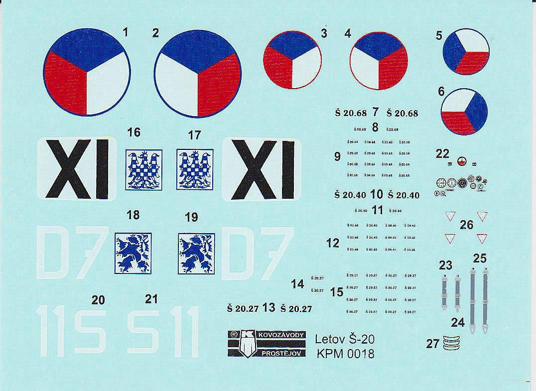KP-KPM-0018-Letov-S20-9 Letov S-20 / S-20L in 1:72 von Kovozavody