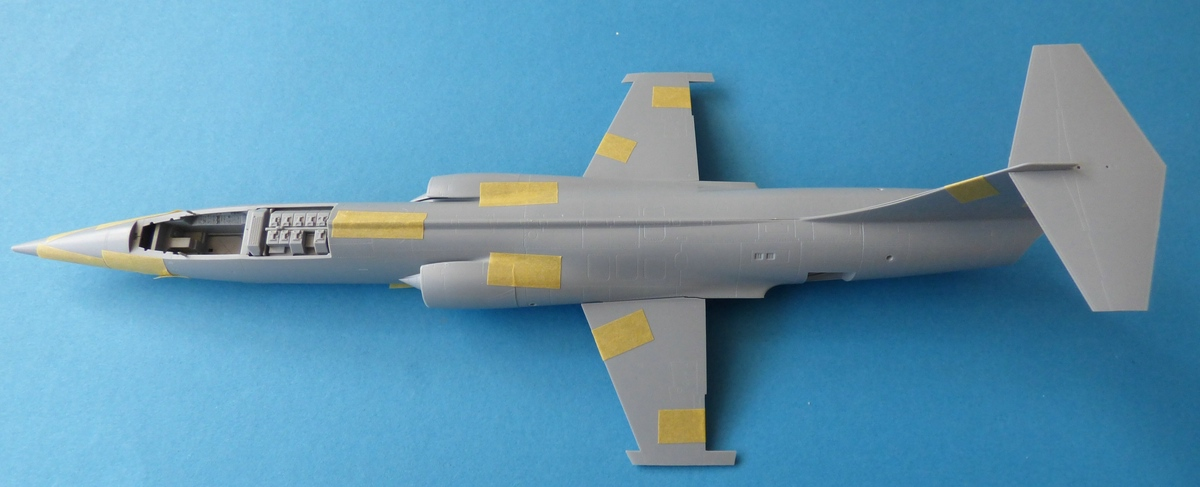 "Kinetic-48083-F-104G-Luftwaffe-Starfighter-Passproben-1 Kinetic Gold ""F-104G Luftwaffe Starfighter"" in 1:48 #48083 Teil 2"