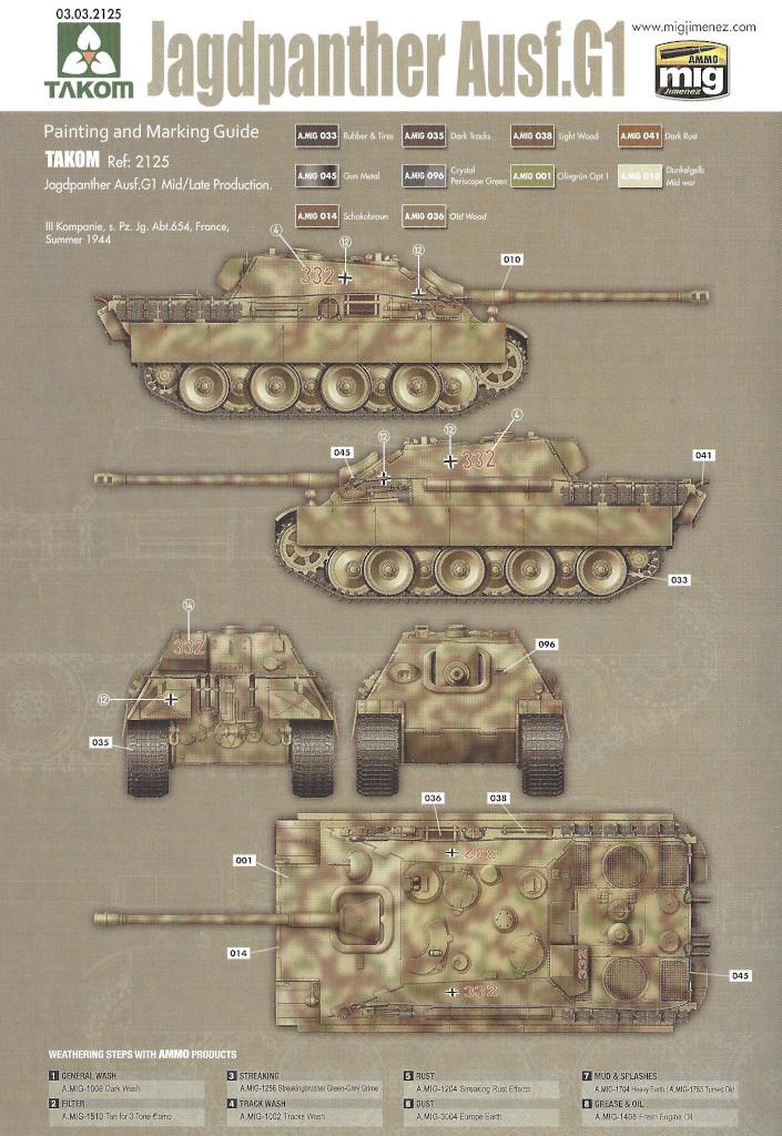 Markierung07 Jagdpanther G1 Early Production w/Zimmerit & Schwerer Plattformwagen Type SSys 1:35 Takom (2125X)