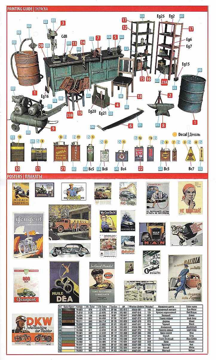MiniArt-35596-Garage-Workshop-6 Garage Workshop in 1.35 von MiniArt #35596