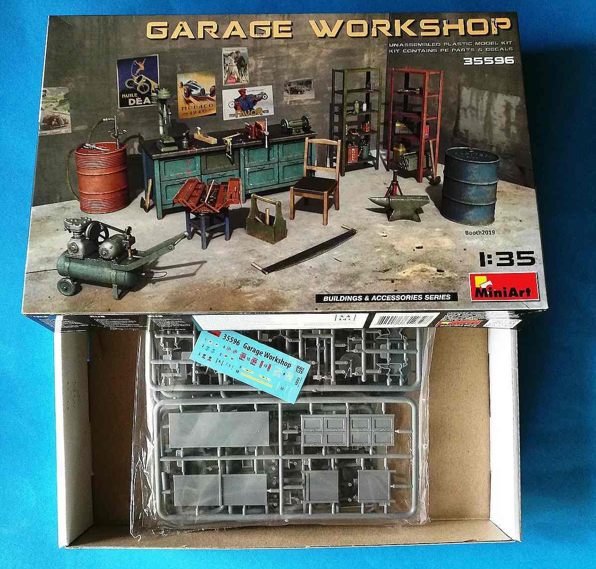 MiniArt-35596-Garage-Workshop-9 Garage Workshop in 1.35 von MiniArt #35596