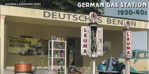 German Gas Station 1930s – 1940s in 1:35 von MiniArt # 35598