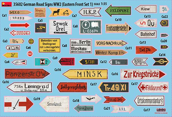 MiniArt-35602-German-Road-Signs-2 German Road Signs Eastern Front von MiniArt #35602