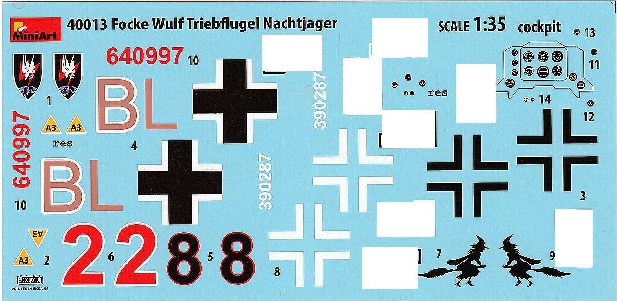 MiniArt-40013-Focke-Wulf-Triebflügel-Nachtjäger-13-1 Focke Wulf Triebflügel als Nachtjäger von MiniArt 40027