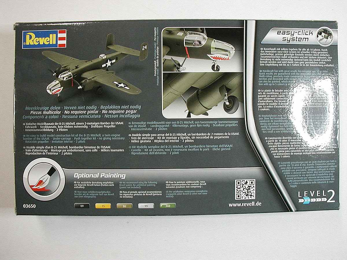 Revell-03650-B-25-Mitchell-Easy-Click-System-4 B-25 Mitchell in 1:72 als Easy Click System von Revell # 03650