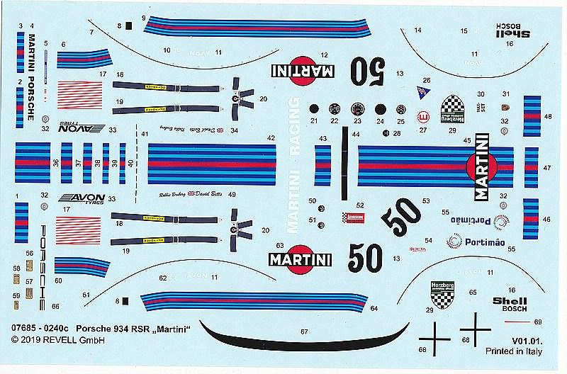 Revell-07685-Porsche-934-RSR-Martini-17 Porsche 934 RSR Martini in 1/24 von Revell #07685