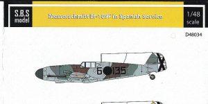 Messerschmitt Bf 109F in Spanish service in 1:48 von S.B.S. Model D48034