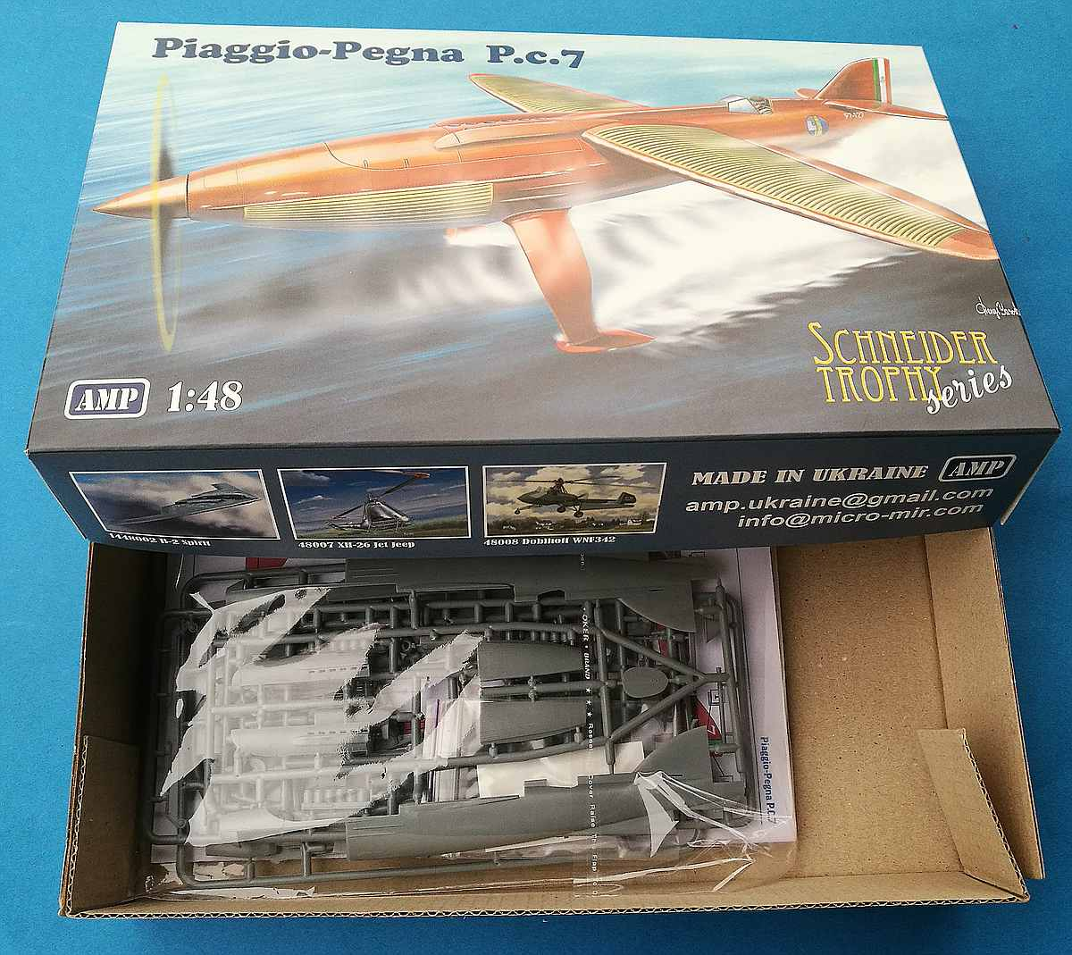AMP-48011-Piaggio-Pegna-P.c-7 Piaggio Pegna P.c. 7 in 1:48 von AMP #48011