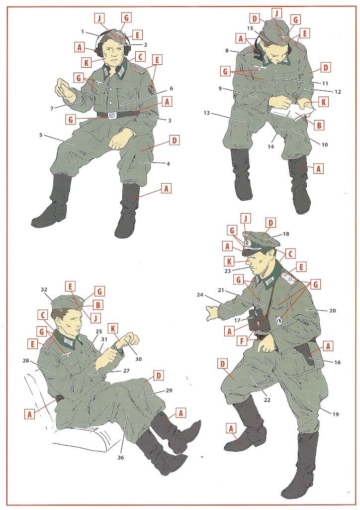 Anleitung-Figuren1 Sd.Kfz.251/6 Ausf. A with crew 1:35 ICM (#35104 )