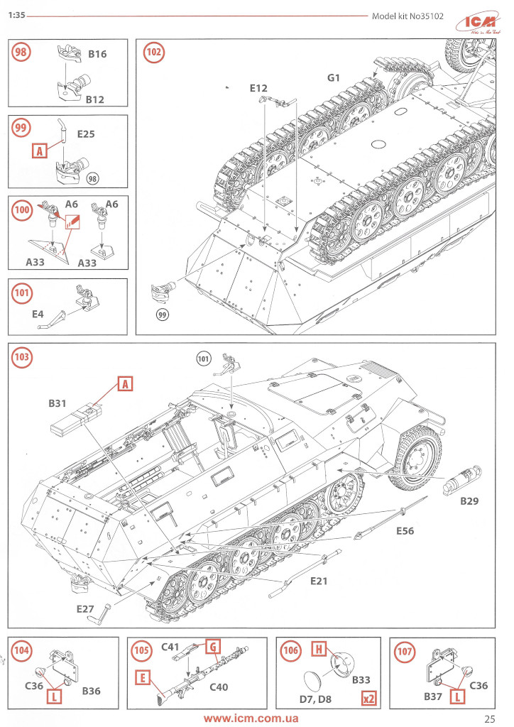 Anleitung25 Sd.Kfz.251/6 Ausf. A with crew 1:35 ICM (#35104 )