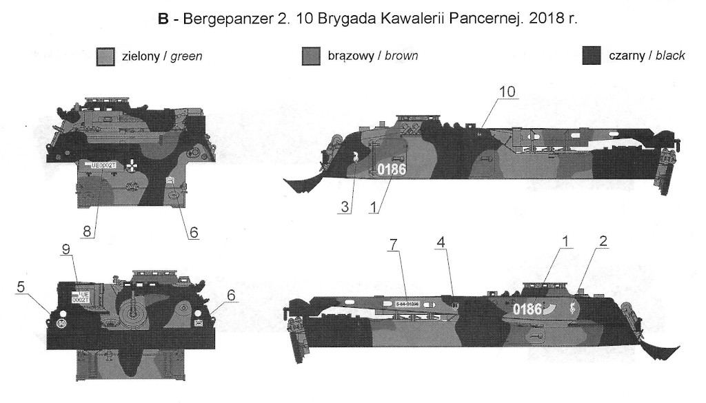 B Bergepanzer 2 in Polish Service 1:35 Toro Models (#35D61)