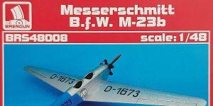 BFW Messerschmitt M-23B in 1:48 von Brengun BRS 48008