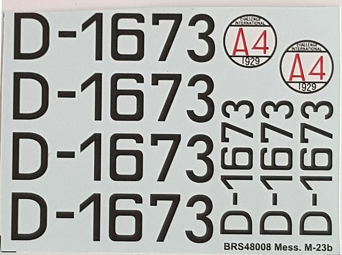 Brengun-BRS-48008-BFW-M23-47 BFW Messerschmitt M-23B in 1:48 von Brengun BRS 48008