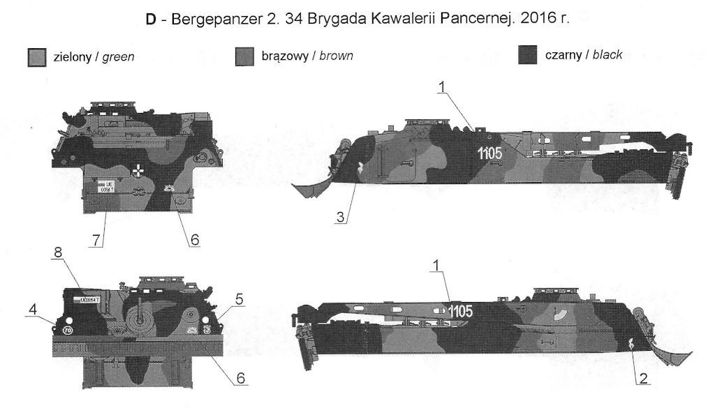 D Bergepanzer 2 in Polish Service 1:35 Toro Models (#35D61)