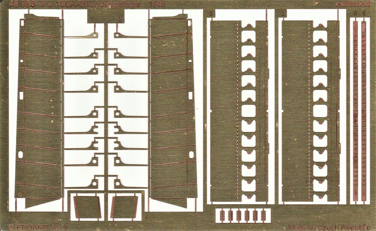 Eduard-48993-FW-190-A-8-Landing-Flaps-2 FW 190 A-8 Landing Flaps in 1:48 von Eduard # 48993