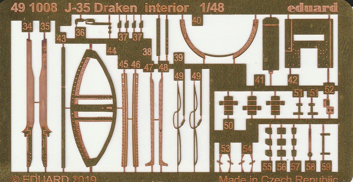 Eduard-491008-Saab-Draken-interior-3 Detailsets für die Saab J35 Draken in 1:48 von Eduard