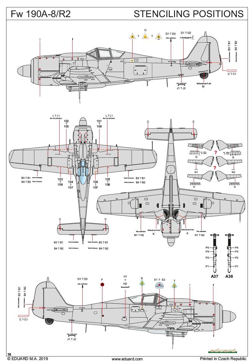 Eduard-82145-FW-190-A-8-R2-Bauplan7 FW 190 A-8/R2 in 1:48 von Eduard # 82145