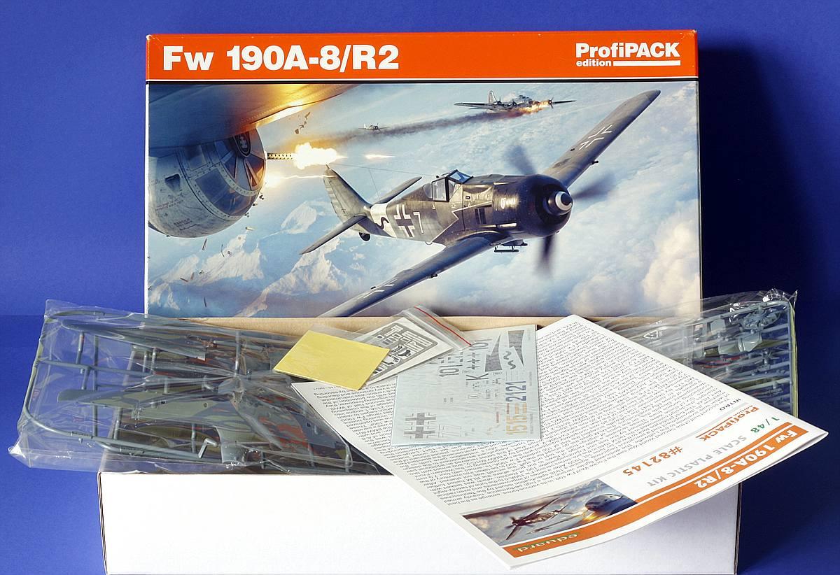 Eduard-82145-Fw-190-A8-R2-Übersicht FW 190 A-8/R2 in 1:48 von Eduard # 82145