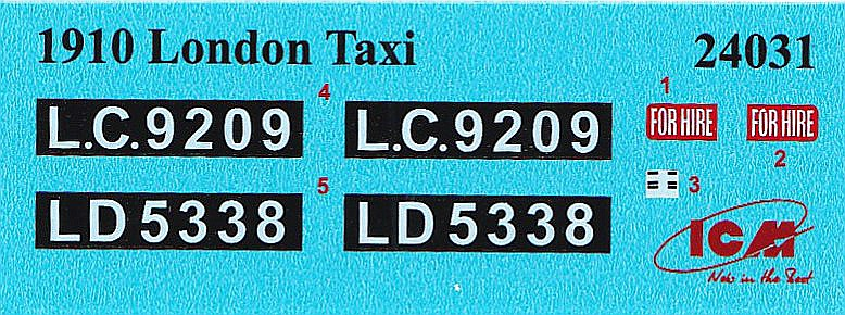 ICM-24031-Type-AG-1910-LOndon-Taxi-20 Type AG 1910 London Taxi in 1:24 von ICM #24031