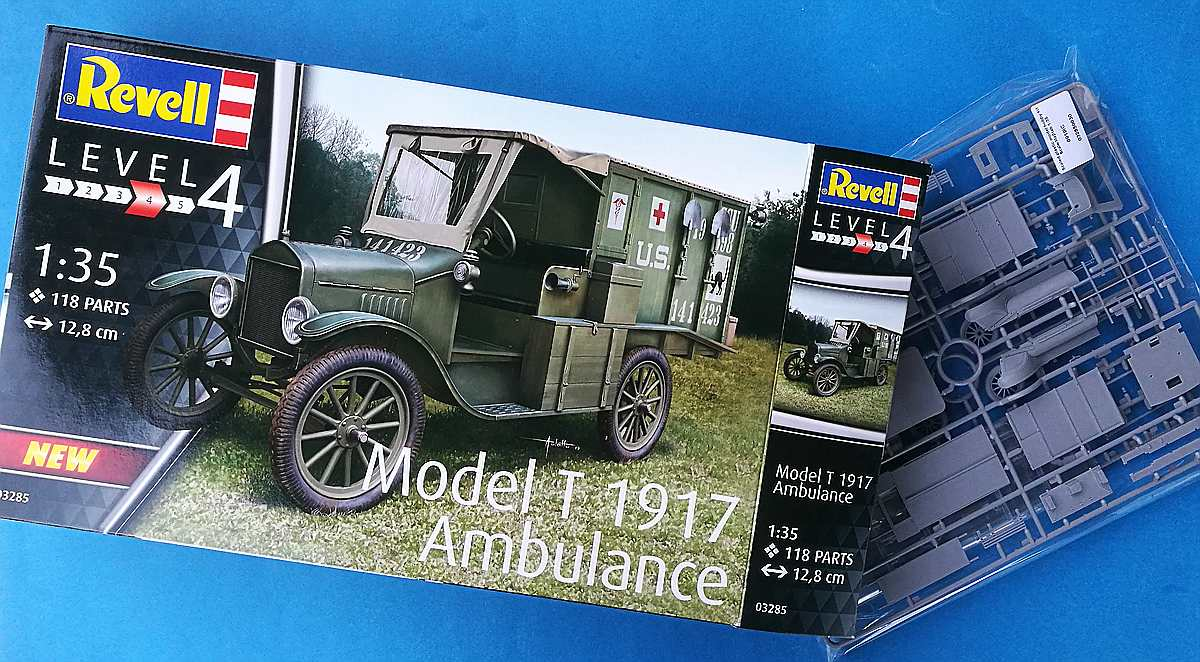 Revell-03285-Model-T-1917-Ambulance-1 Ford Model T 1917 Ambulance in 1:35 von Revell #034285