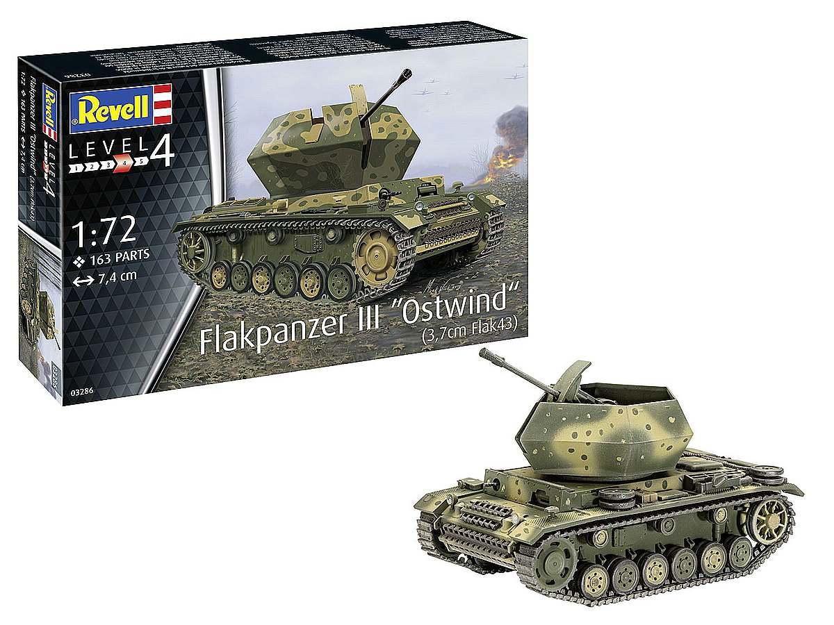 Revell-03286-Flakpanzer-III-Ostwind-37cm-Flak-43-Packshot Revell-Neuheiten Januar-April 2020