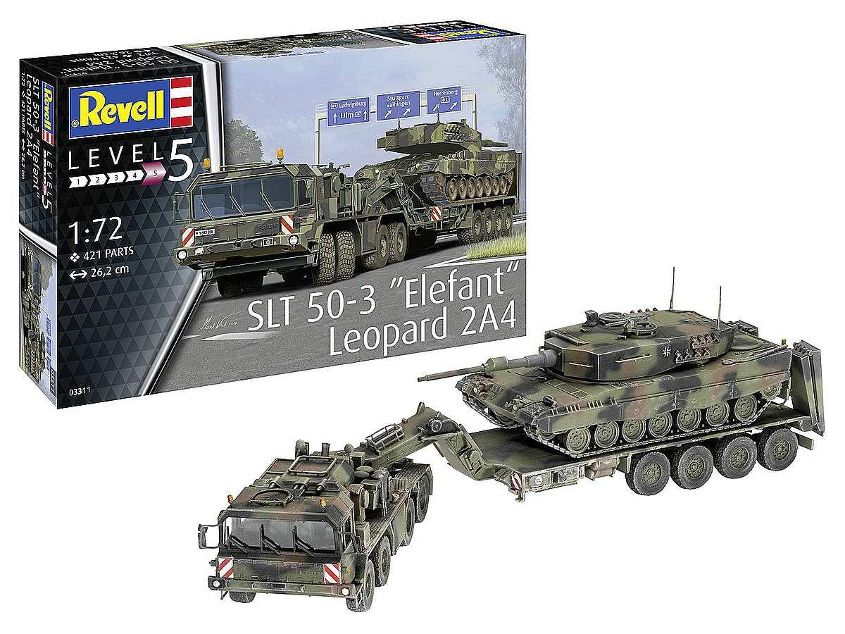 Revell-03311-SLT-50-3-Elefant-Leopard-2A4-Packshot Revell-Neuheiten Januar-April 2020