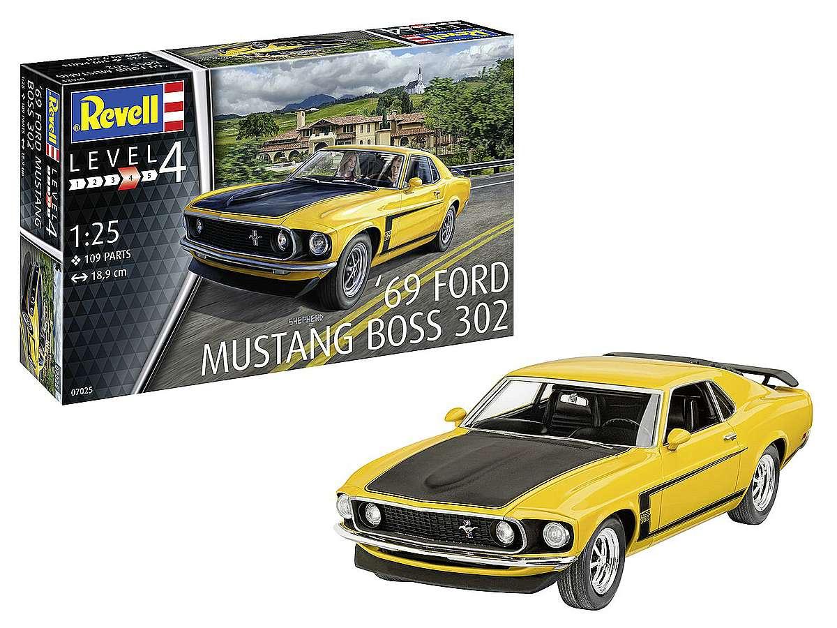 Revell-07025-1969-Ford-Mustang-Boss-302-Packshot Revell-Neuheiten Januar-April 2020