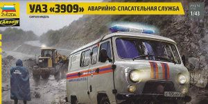 UAZ 3909 im Maßstab 1:43 von Zvezda #43002