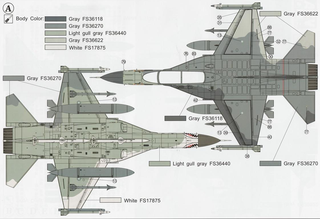AFV-Club-48109-F-CK-1D-81 F-CK-1D Ching-Kuo - ein Flugzeug-Klon (?) aus Taiwan in 1:48 von AFV-Club # AR 48109