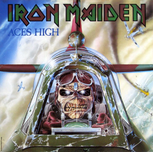 Aces_High_Iron_Maiden_single_-_cover_art Iron Maiden Spitfire MK.II Aces High 1:32 Revell (05688)