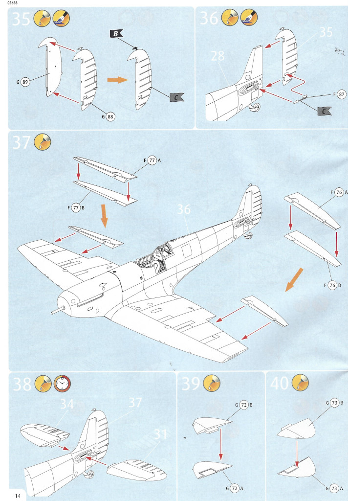 Anleitung14 Iron Maiden Spitfire MK.II Aces High 1:32 Revell (05688)