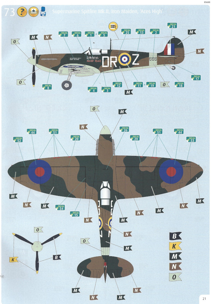Anleitung21 Iron Maiden Spitfire MK.II Aces High 1:32 Revell (05688)