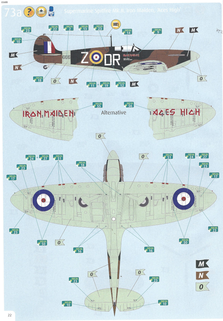 Anleitung22 Iron Maiden Spitfire MK.II Aces High 1:32 Revell (05688)