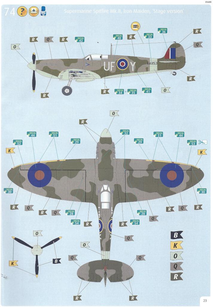 Anleitung23 Iron Maiden Spitfire MK.II Aces High 1:32 Revell (05688)