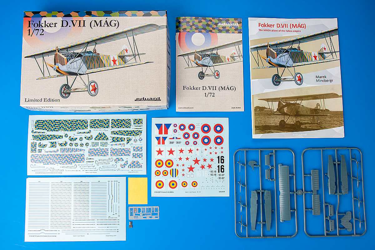 Eduard-2128-Fokker-D.VII-MAG-Limited-Edition-Inhalt Fokker D.VII MAG Limited Edition in 1:72 von Eduard # 2128
