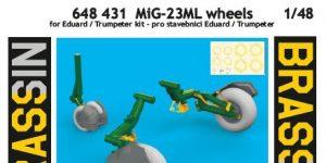 MiG-23 ML Wheels in 1:48 von Eduard #648431