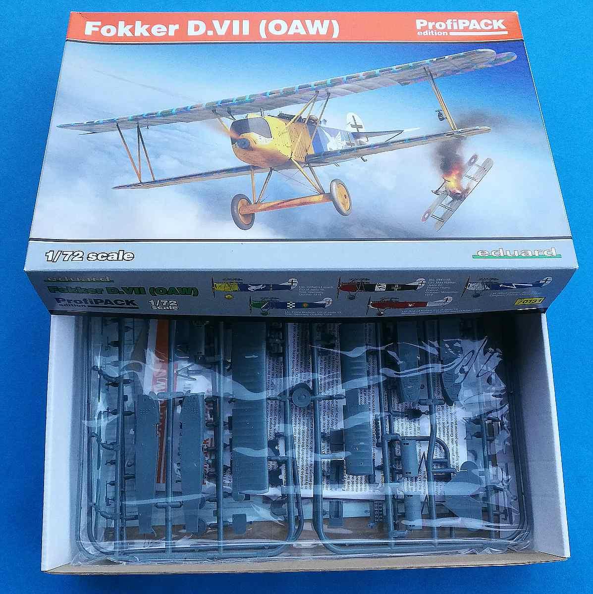 Eduard-70131-Fokker-D.VII-OAW-ProfiPack-Karton Fokker D. VII (OAW) in 1:72 von Eduard # 70131